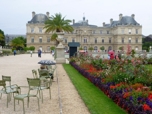 A wet day in the Jardin du Luxembourg, July 2015