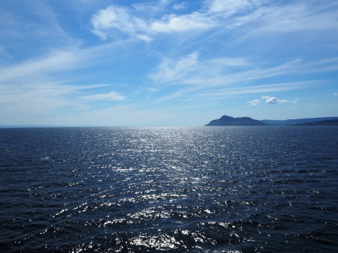 Crossing to the Isle of Arran - a sheltered corner of Scotland's west coast - August 2015
