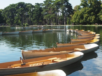 Boats for hire in the Bois de Boulogne