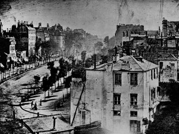 Boulevard du Temple 1838