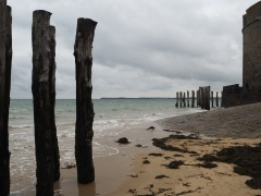 Sea defences at St Malo - on the north coast of Brittany - October 2015