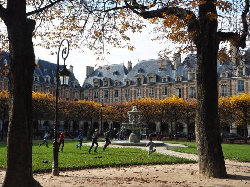 Playing in Place des Vosges, October 2015