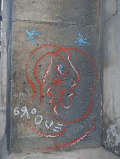 street art chalk Paris Groove