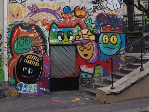 street art cats Chat Noir Paris