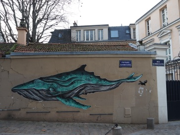whale street art Paris Atomludik