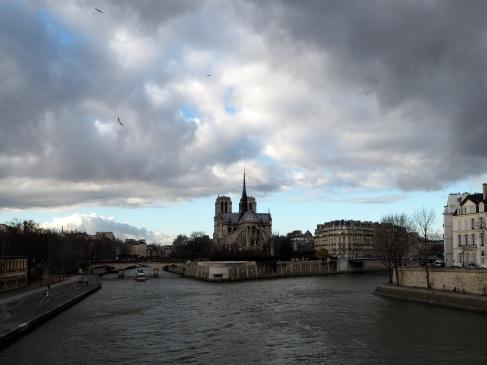 Winter sky over the Seine - January 2016