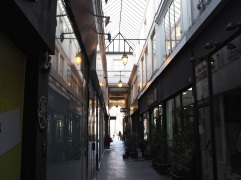 Passage du Ponceau on a sunny winter's day