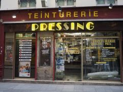 T is for Teinturerie - originally a dyers but now usually a dry cleaners