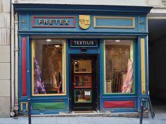 X is unfindable - so here's a colourful textile shop