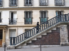 Split level streets in the 9th arrondissement, February 2016