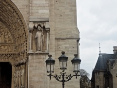 A bishop and a lamp post
