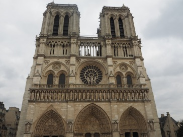 The classic view; the west front of Notre Dame cathedral