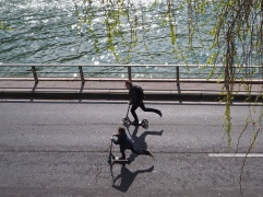 paris riverside expressway car free scooters