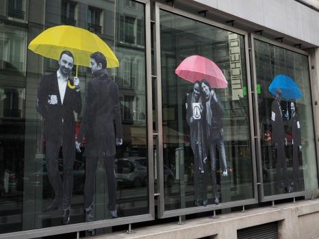 umbrellas street art Paris
