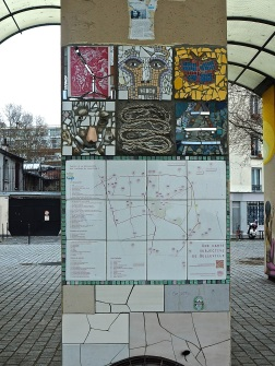 Belleville community art map & mosaic