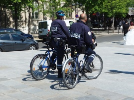 Bike-powered community policing