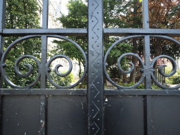 Gate to the garden - originally the mayor's private garden, now used by the staff creche in the week and open to the public at weekends.