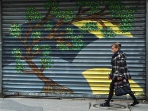 Paris street art tree