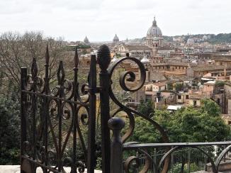 Rome view from Villa Borghese gardens