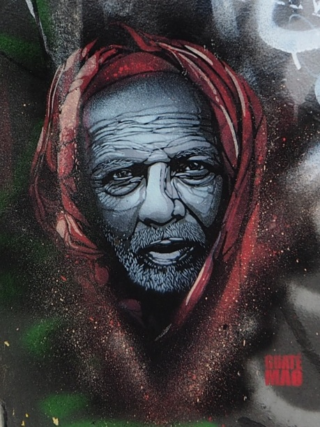 street art portrait Guaté Mao
