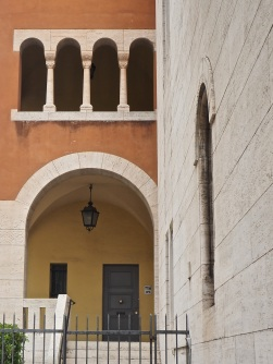 Rome door and arches