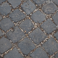 Rome paving & pebbles