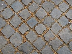 Rome paving and natural debris