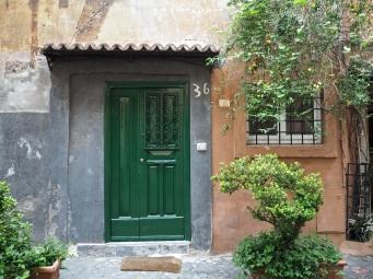 green door Trastevere Rome