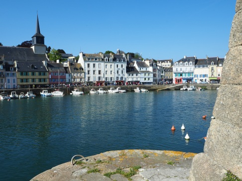 The inner harbour at Le Palais seen from the bottom of the citadel wall.