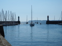 Leaving the harbour at Le Palais.