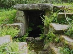 An ancient covered spring near Crach, Morbihan.