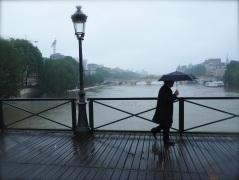 Raining again - Pont des Arts - May 2016