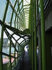 Another narrow pathway alongside the River Seine. This one is inside the Cité de la Mode.