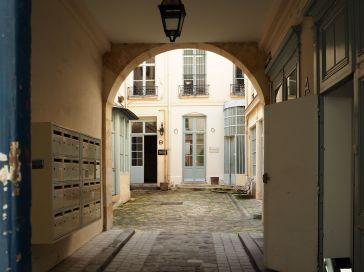 Courtyard entrance in the Marais