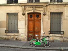 A bike by the door