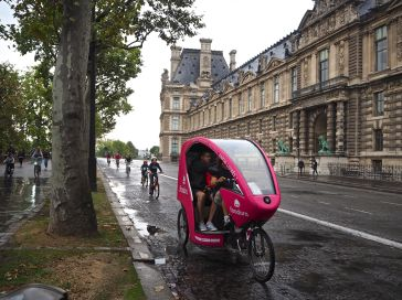 journée sans voiture bike taxi paris