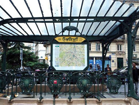 chatelet metro canopy paris