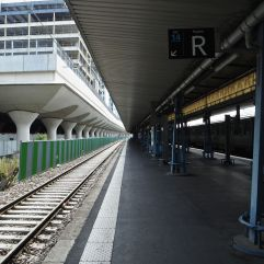 Old and new station extensions