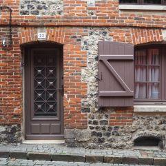 Brick, flint and brown paint, Honfleur