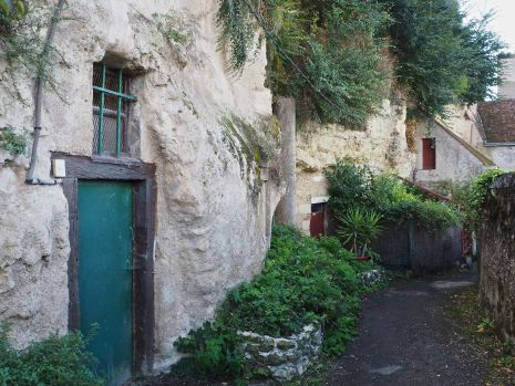 Troglodyte dwellings and stores at Amboise