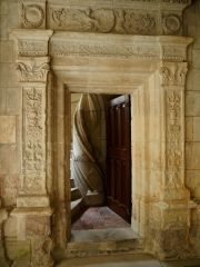 Doorway and staircase details at Tours cathedral