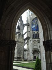 A back door from the cathedral to the cloisters