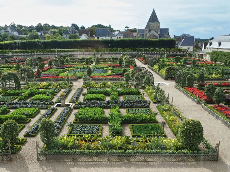 Chateau de Villandry potager from first floor