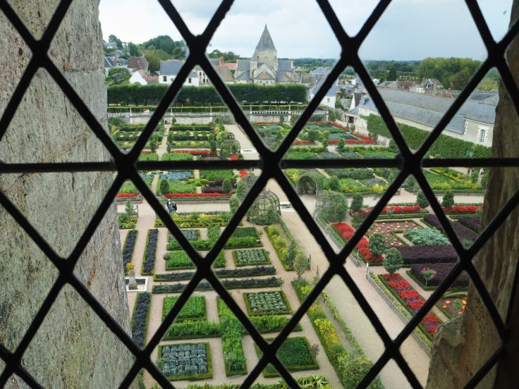 Chateau de Villandry potager from 2nd floor window