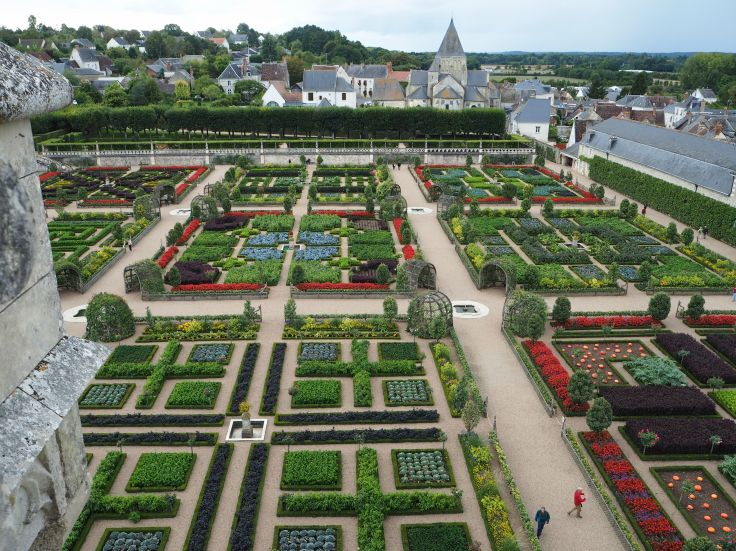 Chateau de Villandry potager from tower