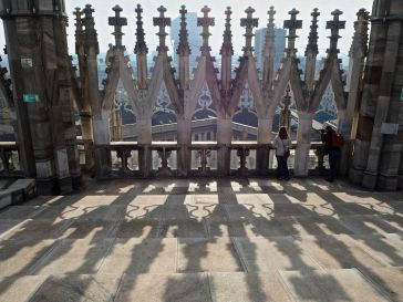 On the roof of Milan cathedral - December 2016