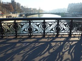 Long shadows on Pont Notre Dame - December 2016