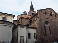 Clustered brick chapels and conical stone spires