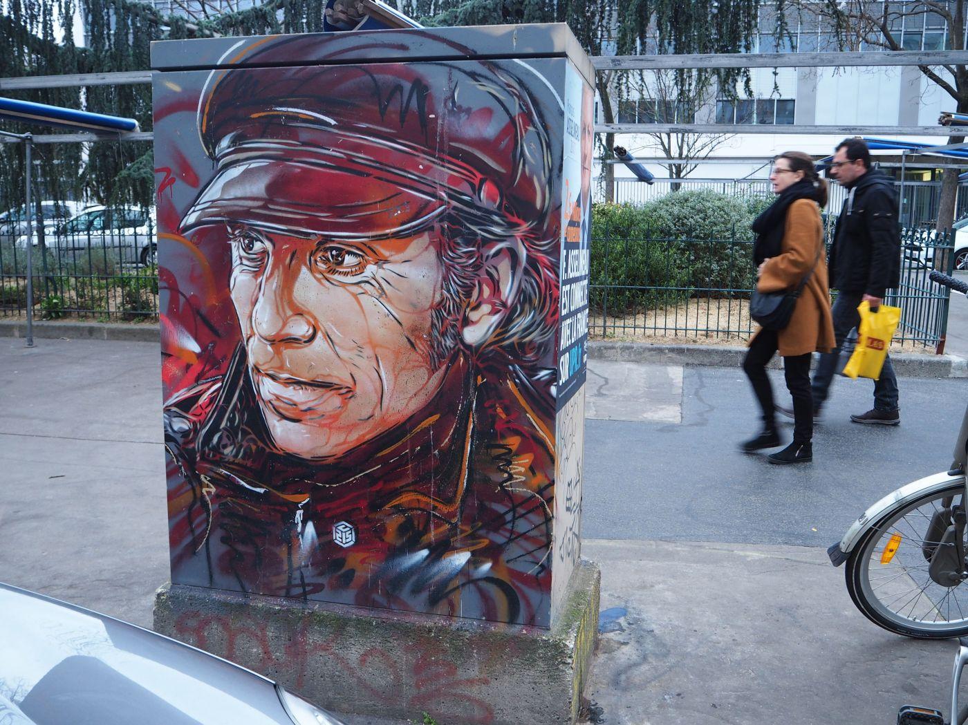 street art paris C215