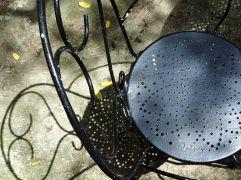Back garden chair shadows.